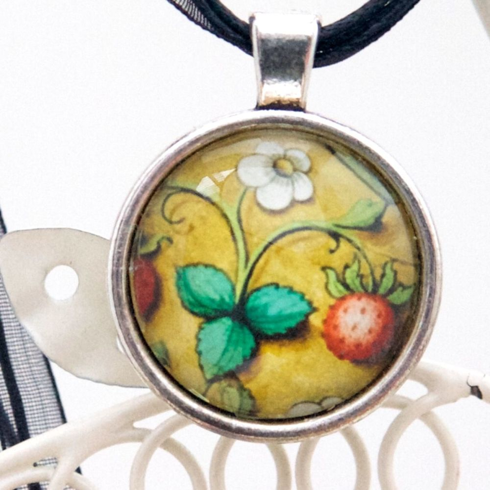 Book of Hours Strawberry pendant