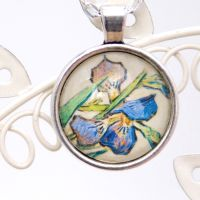 Van Gogh Irises pendant