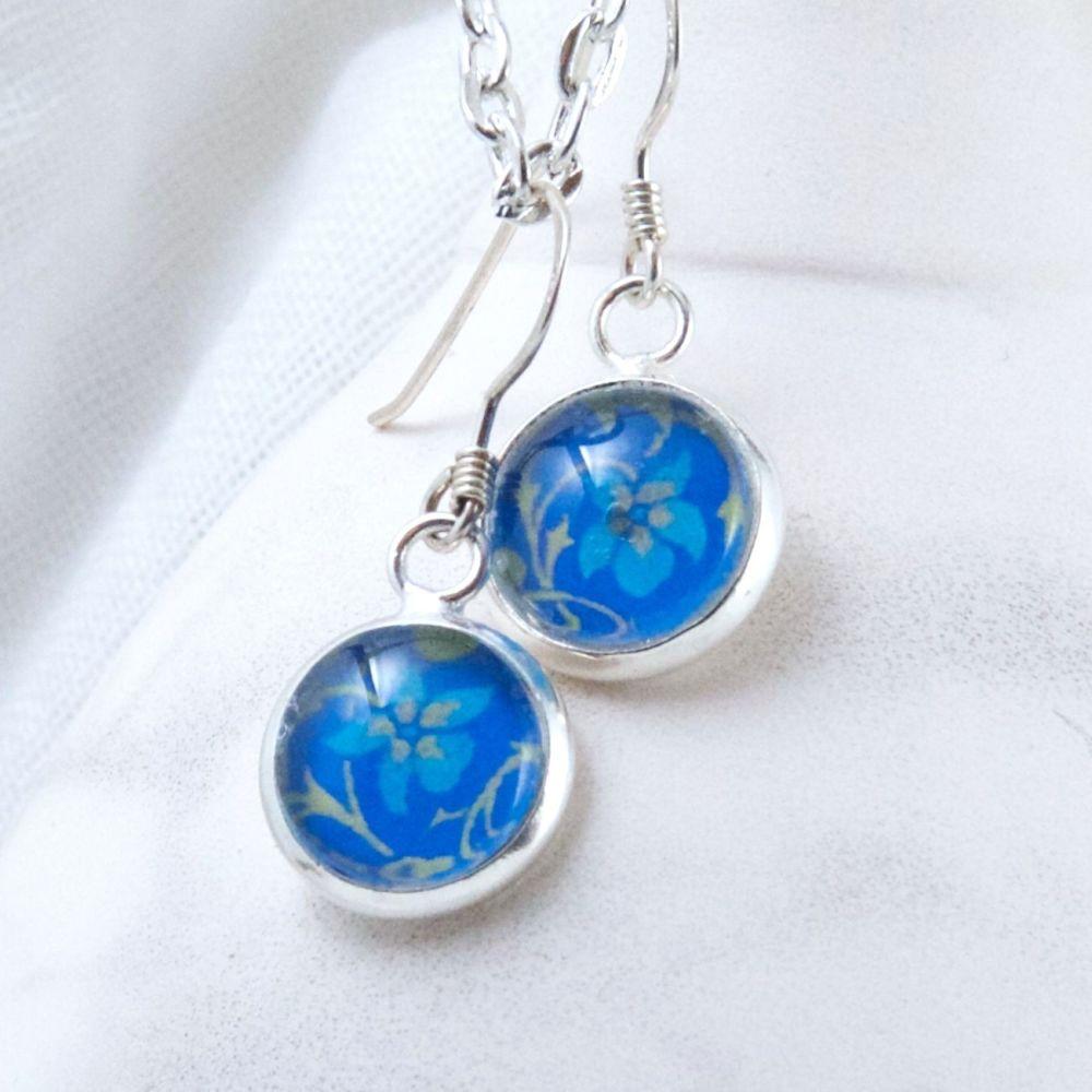 William Morris violet earrings