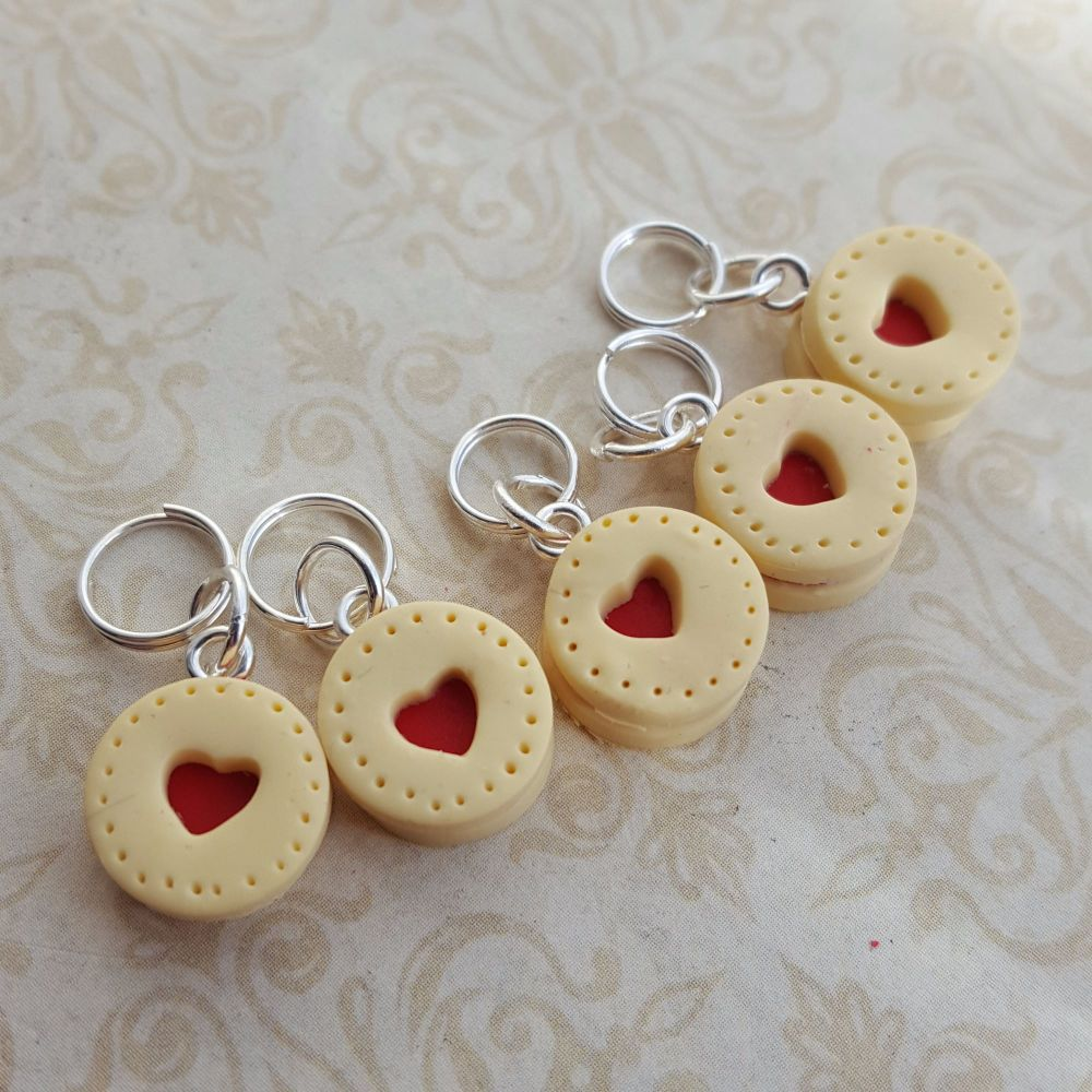 Jammy heart biscuit markers