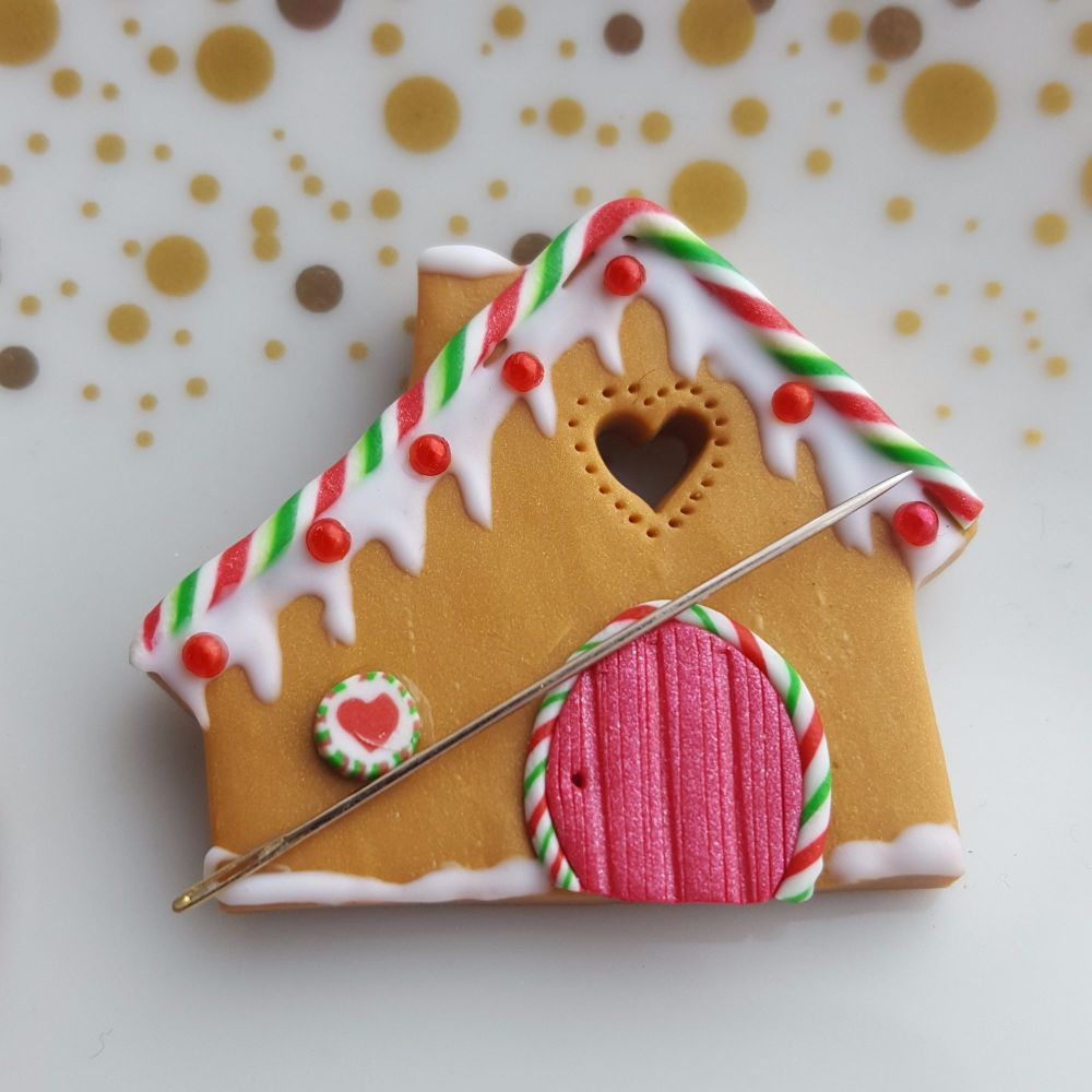 Christmas Gingerbread House Needleminder