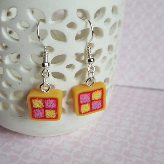 Hanging Battenburg Earrings
