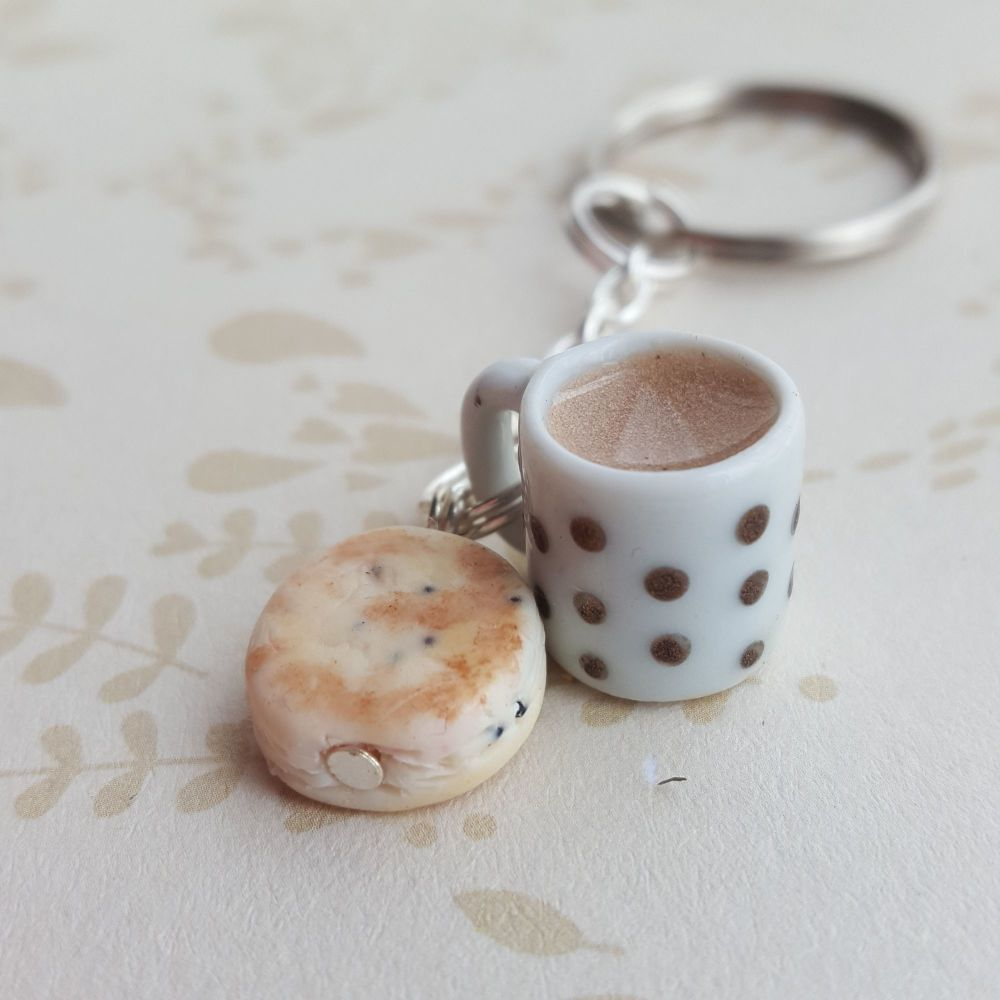 Welsh Cake and Tea Keyring