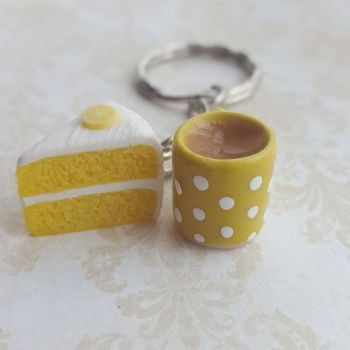 Lemon Cake and Mug Keyring