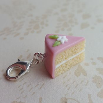 Polymer clay birthday cake charm