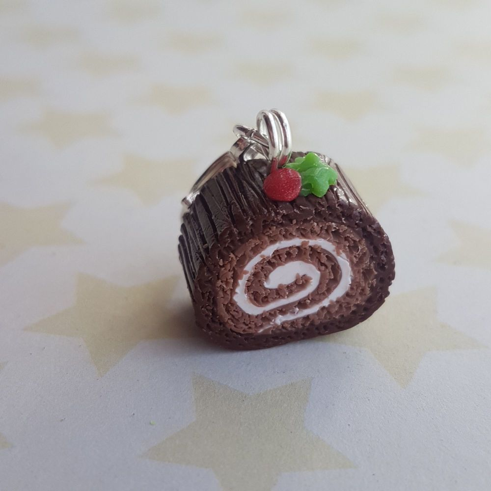 Yule Log Stitch Marker