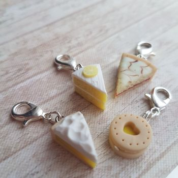 Lemon Cakes and Biscuits Stitch Markers