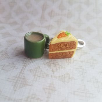 Carrot Cake and Mug Stitch Marker Set