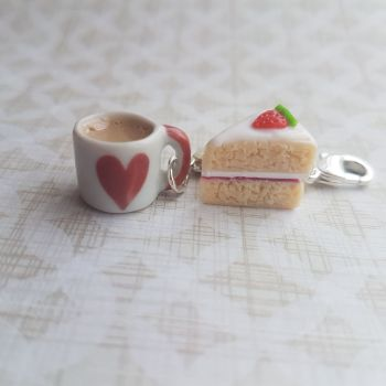 Strawberry Cake and Mug Stitch Marker Set