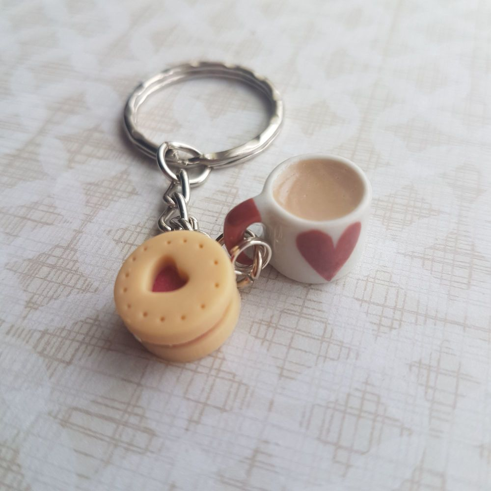 Biscuit and Mug Keyring