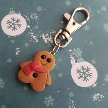 Gingerbread Man Keyring