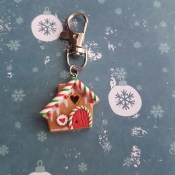 Gingerbread House Keyring