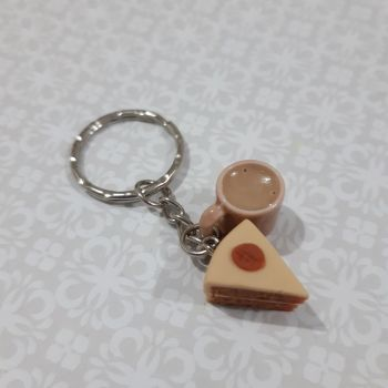 Coffee Cake and Mug Keyring