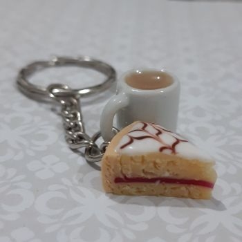 Bakewell Tart  and Mug Keyring