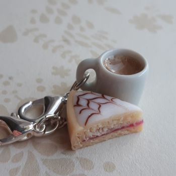 Bakewell Tart  and Mug Stitch Marker Set