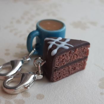 Chocolate Cake and Mug Stitch Marker Set