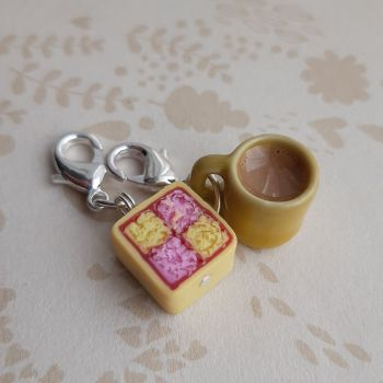 Mug and Battenburg Cake