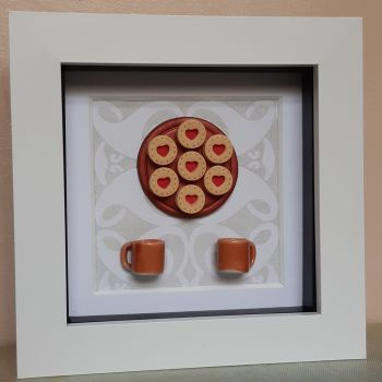 Jammy Biscuits and Mugs Frame