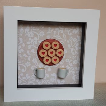 Jammy Biscuit and White Mug Frame