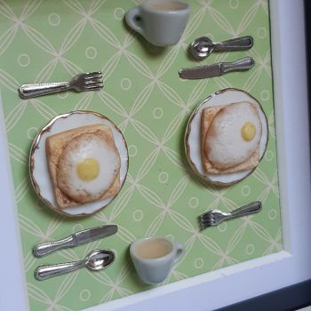 Eggs on Toast (Green Background)