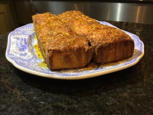 Lemon Drizzle cakes at Oakley Grange Café