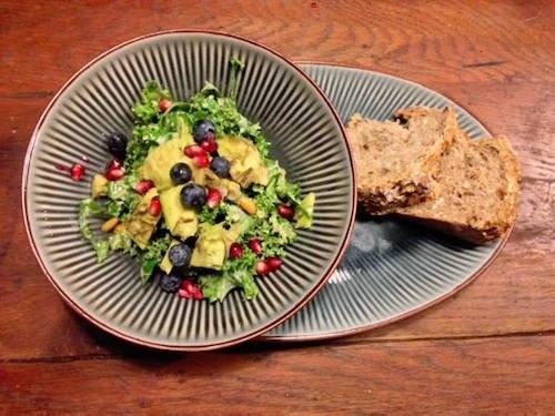 salad at Oakley Grange Café
