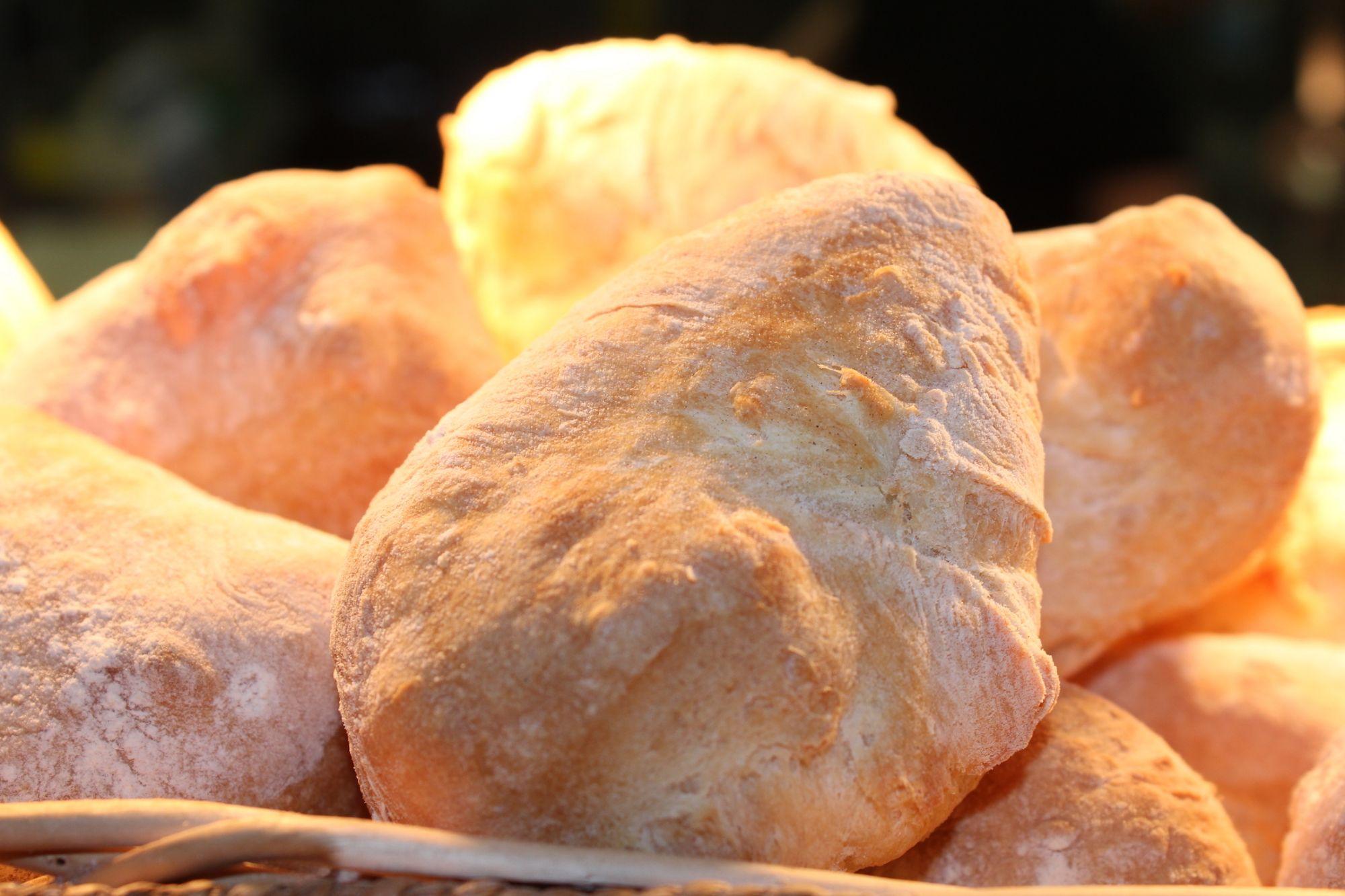 Freshly made bread at Oakley Grange Farm Café