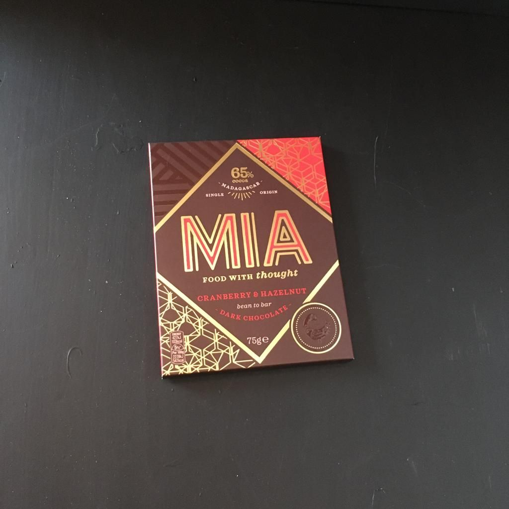 Mia Dark Chocolate with Cranberry & Hazelnut