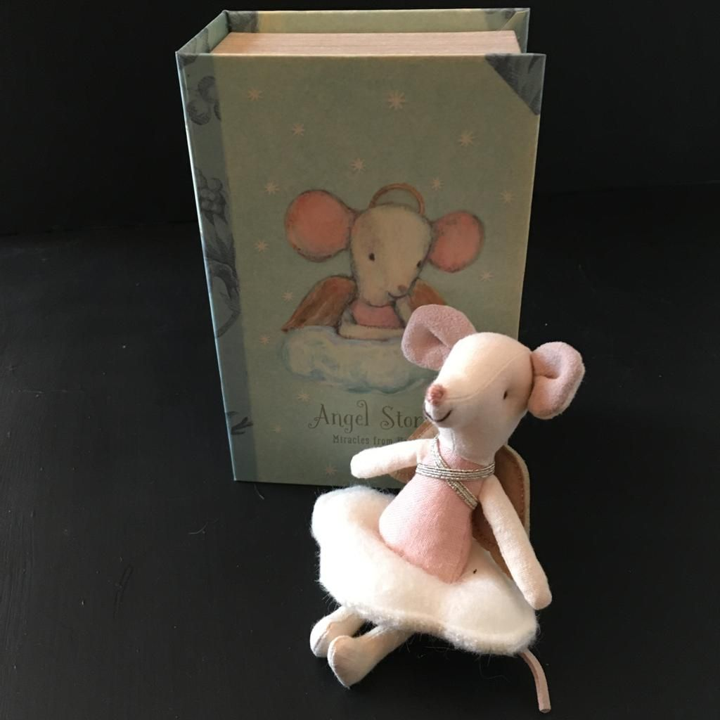 Angel Mouse in Story Book
