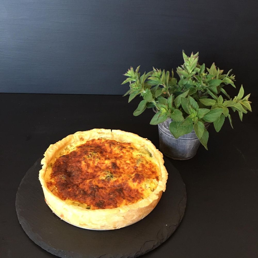 Broccoli & Onion Quiche