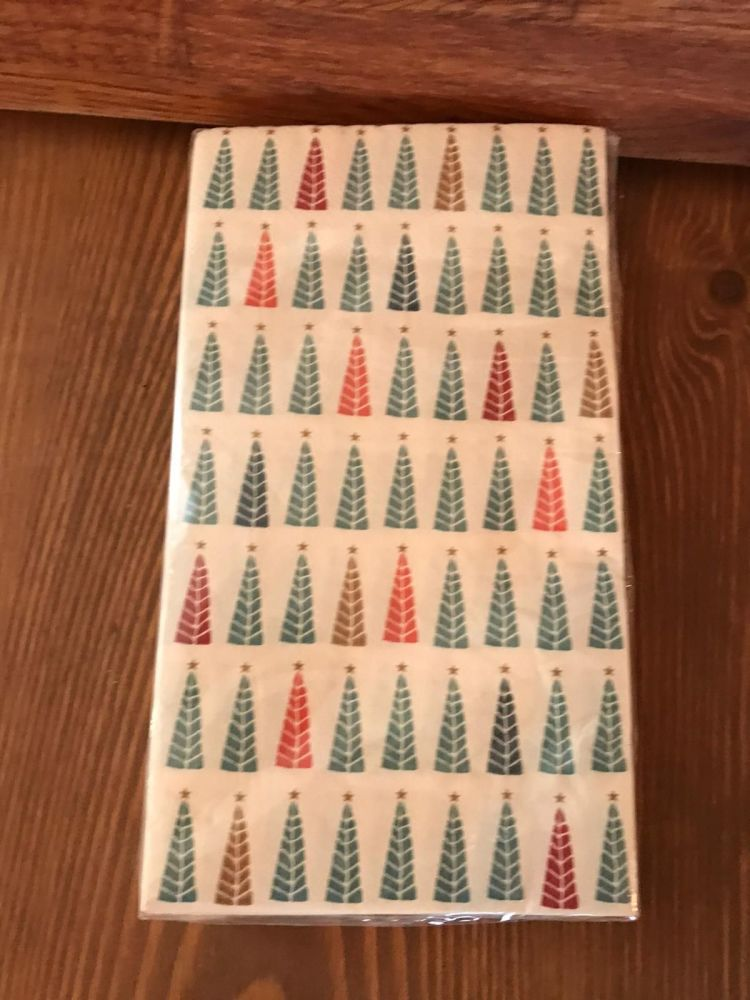 Napkins With Small Christmas Trees