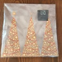 Napkins with Sparkly Christmas Tree