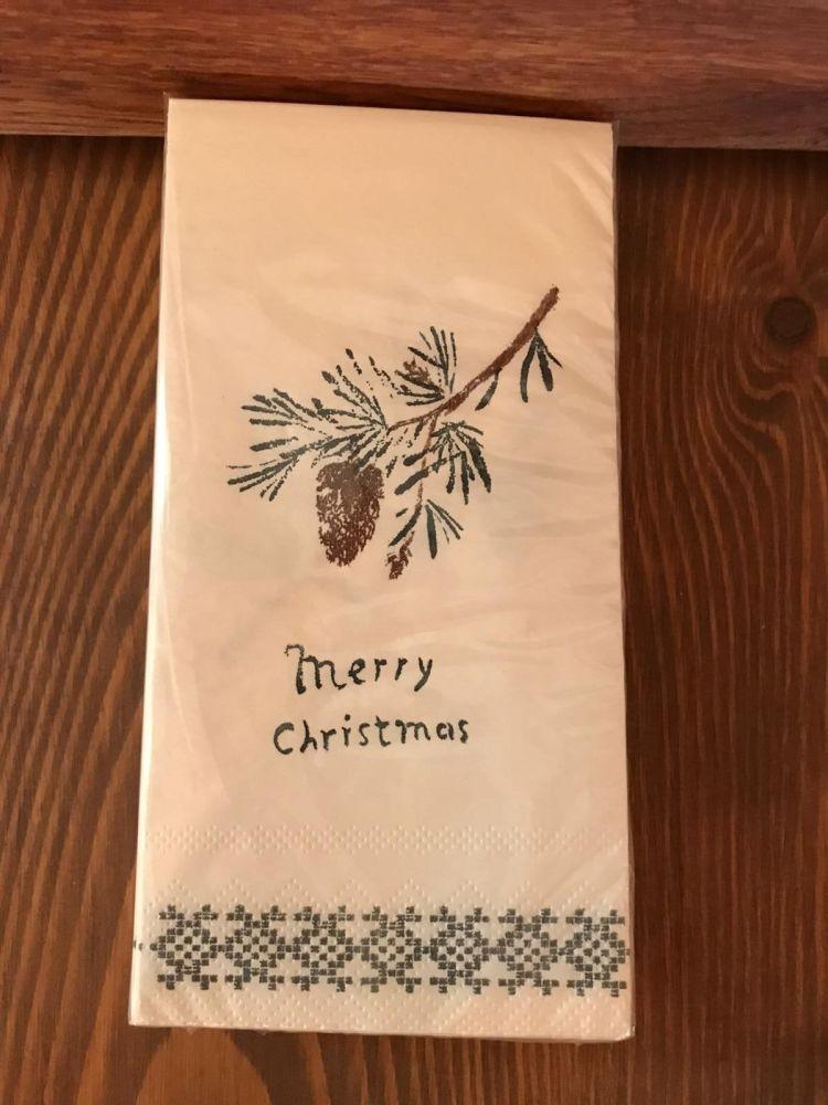 Napkins with Merry Christmas