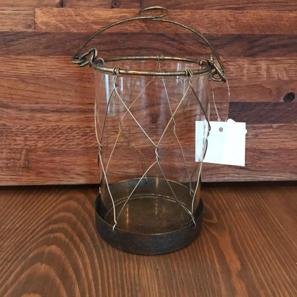 Tea Lights - Glass & Wire Tea Light Lantern