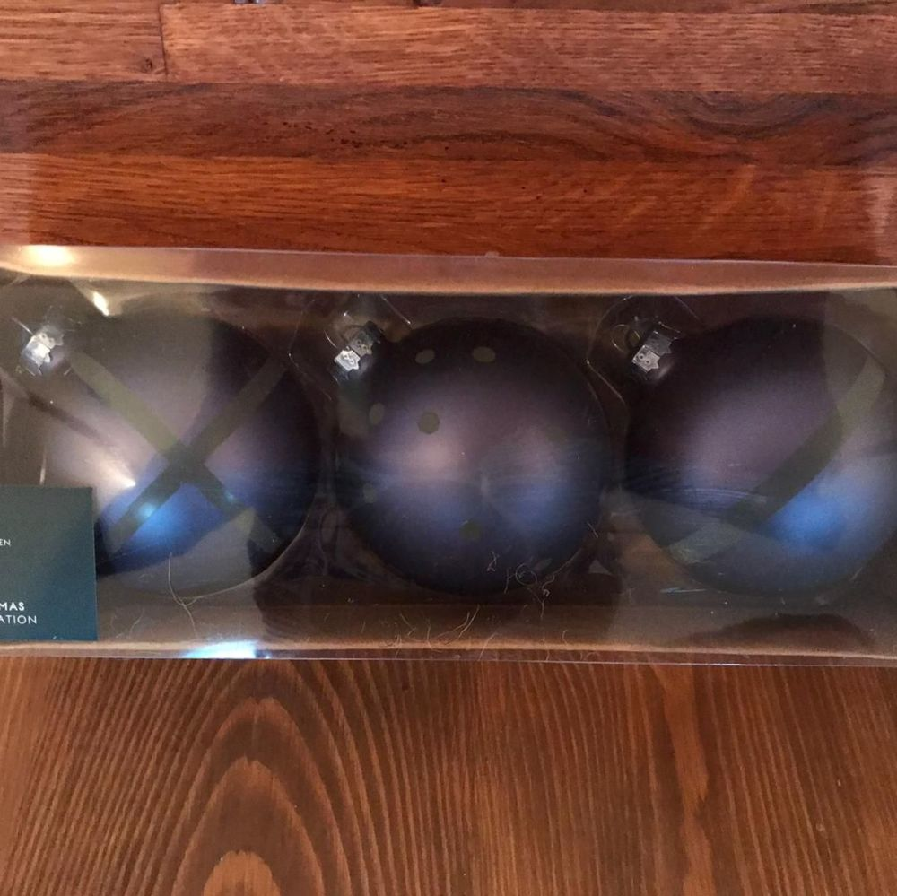 Decorations - Box of Pewter Baubles