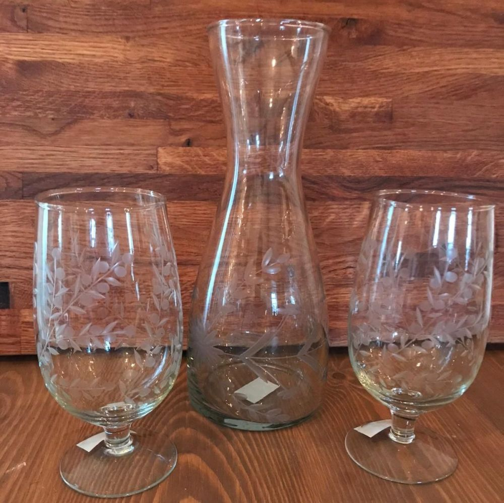 Glassware - Intaglio Glass Carafe