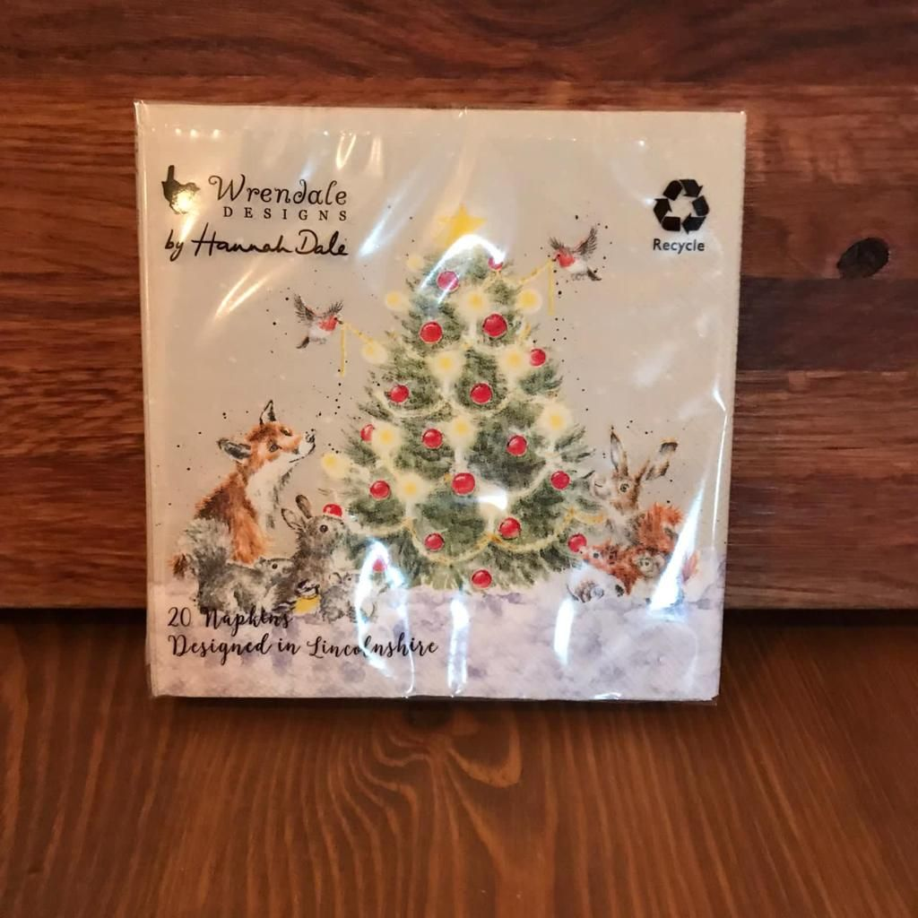 Napkins with Christmas Tree & Animals (small)