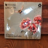Napkins With Poppies & Bees (Large)