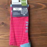 BAM Bamboo socks - Ladies size 4-7 Pink stripes