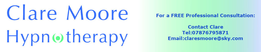 Clare Moore Hypnotherapy, site logo.