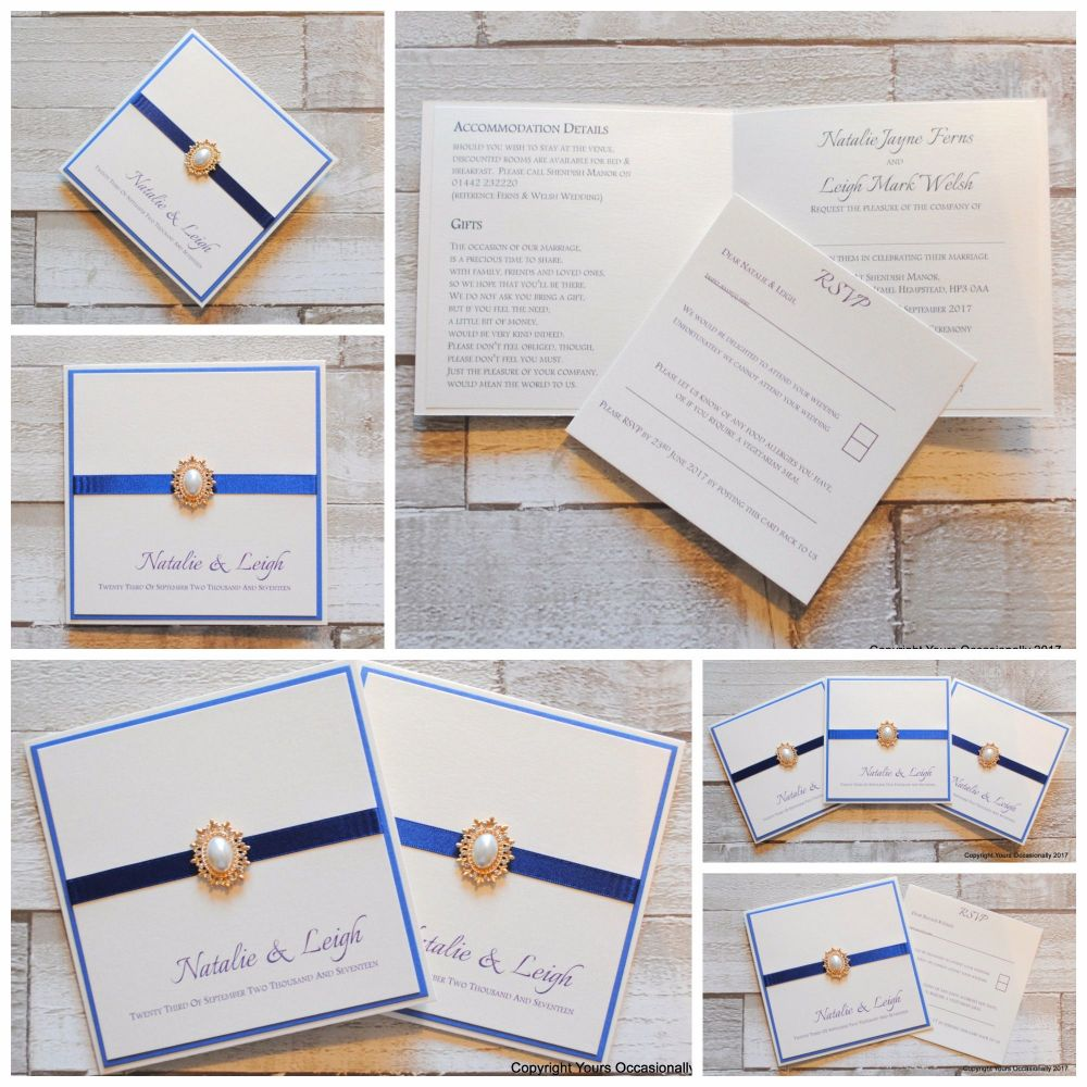 Bespoke Wedding Invitations Collage