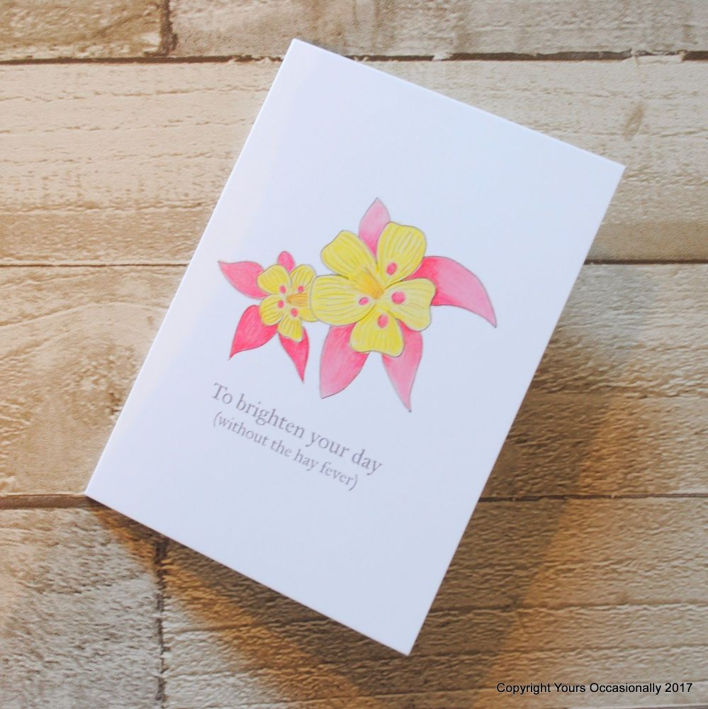 Hand Illustrated Flower Greeting Card