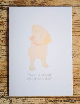 Puppy Birthday Greeting Card