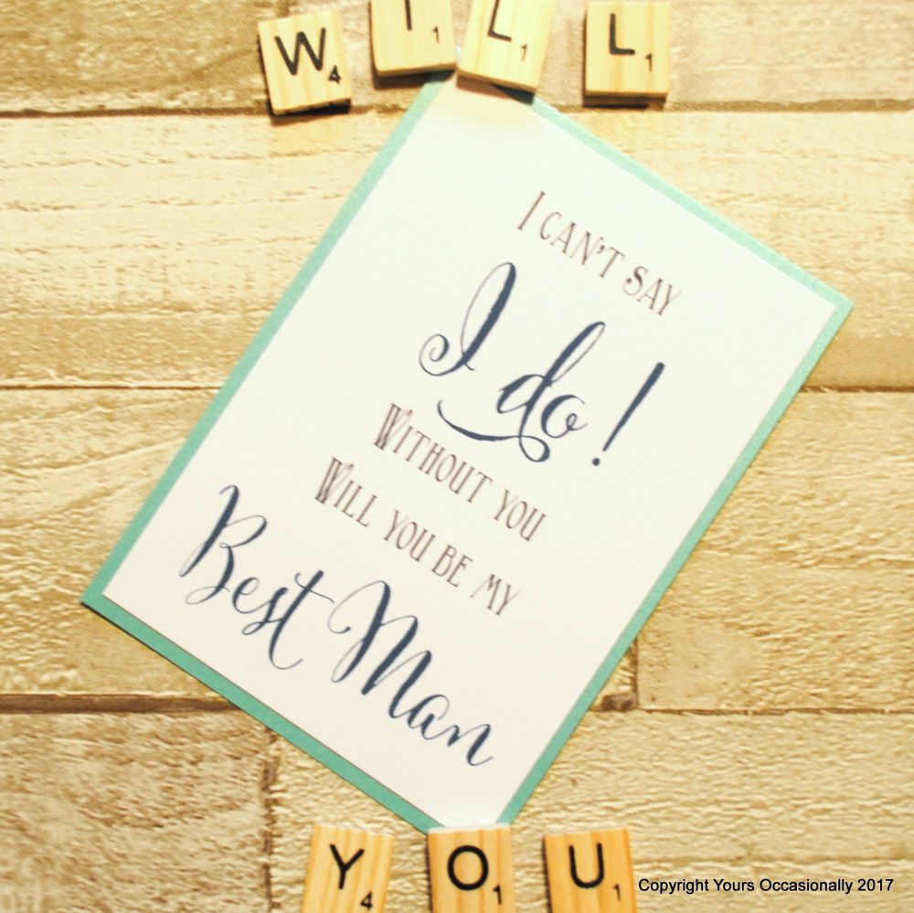 Will You Be My Best Man Postcard
