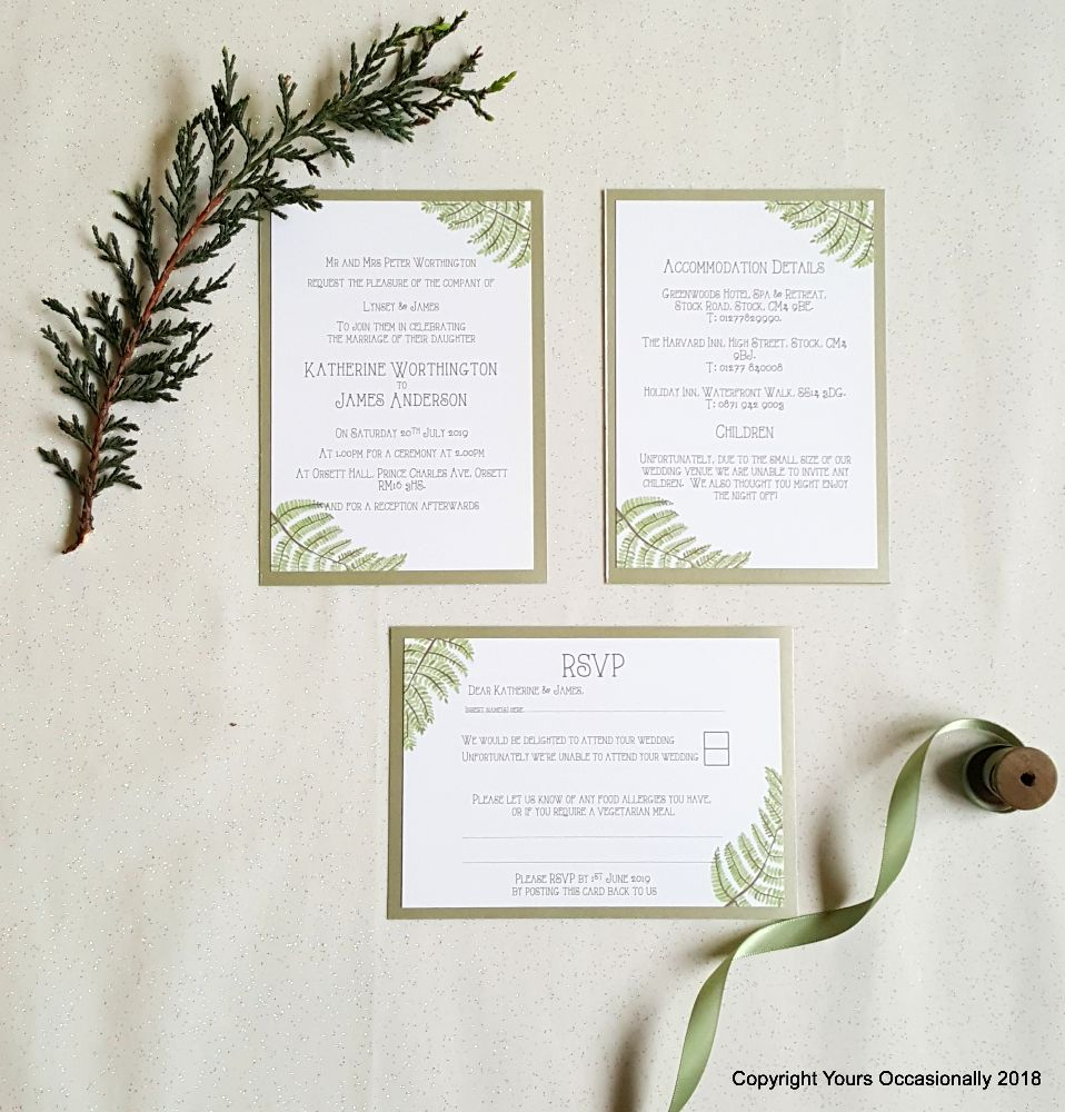 Fern Gully Invitations