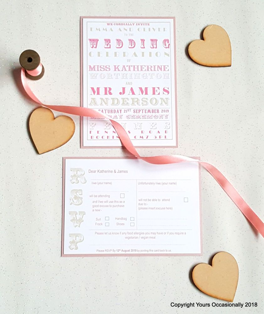 Fairground Fonts Invitations