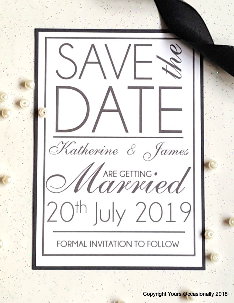 Champagne & Limousines Save the Date Card