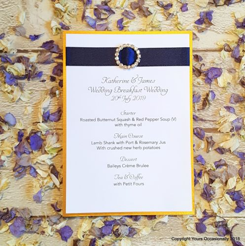 Subtle Sparkles Menu Card