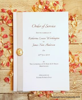 Pearl Passion Order of Service Booklet