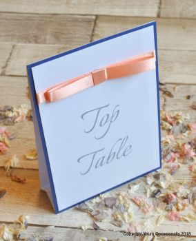Blissful Bow Freestanding Table Number Card